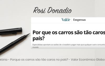 Matéria – Por que os carros são tão caros no país? – Valor Econômico Globo